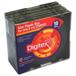 Коробка на 1 mini CD/DVD Digitex DCASLB8-01-10CW (Black, пластик, 5мм, 10 шт.)