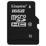 Флэш-карта microSDHC (TransFlash) 16 GB Kingston (Class 10) [ SDC10/16GBSP ]
